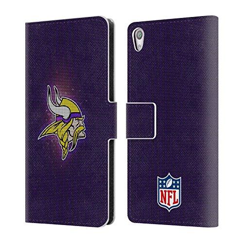 Head Case Designs Offizielle NFL LED 2017/18 Minnesota Vikings Brieftasche Handyhülle aus Leder für Sony Xperia XA/XA Dual