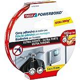 tesa Powerbond Ultra Strong Montageband / Doppelseitiges Klebeband für eine besonders starke und dauerhafte Befestigung ohne Bohren / 5 m x 19 mm