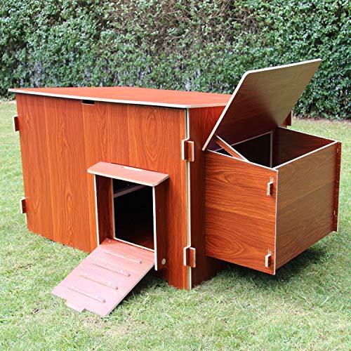 zoo-xxl Hühnerhaus Hühnerstall Kleintierstall mit Kotschublade einfache Reinigung ca. 137 x 76 x 71 cm für draußen # B-Ware