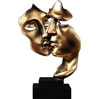 Uziqueif Sculpture Moderne, d'or Abstrait Art Figurines, Decoration Salon, Cadeau Couple, Statue Decoration Interieur…