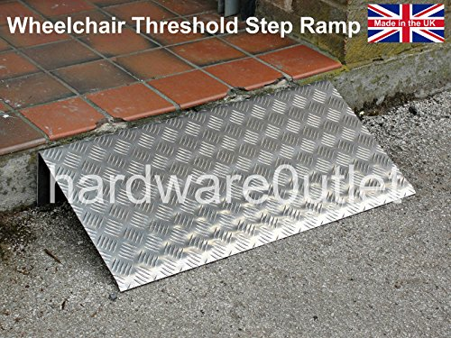 "Price comparison product image Wheelchair Threshold Step Ramp - Door Ramp Anti Slip 9 Heights available (2"" High x 10"" Depth x 30"" Wide)"