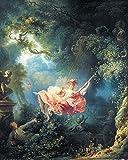 1art1 84705 Jean-Honoré Fragonard - Die Glücklichen Zufälle Der Schaukel, 1767 Poster Kunstdruck 50 x 40 cm