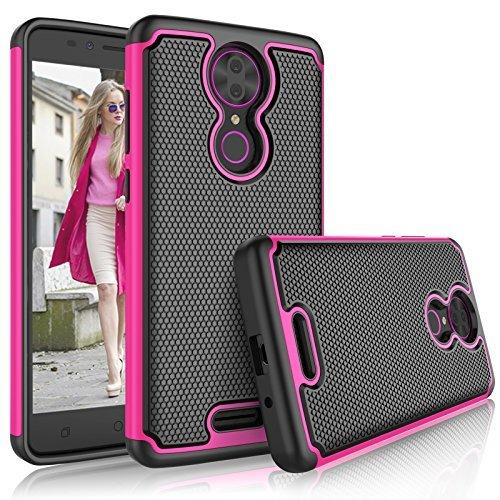 T-Mobile revvl Plus Fall, Coolpad revvl Plus Schutzhülle für Mädchen, tekcoo [tmajor], Hybrid Rubber Silikon & Kunststoff Kratzfest Bumper Griffigkeit Cute stabile Hard Cases Cover, hot pink Hot Pink Hard Case