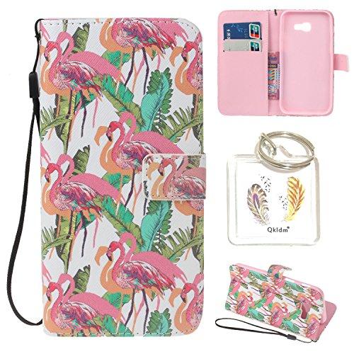 (für Galaxy A5 2017 A520F PU Silikon Schutzhülle Handyhülle Painted pc case cover hülle Handy-Fall-Haut Shell Abdeckungen für Smartphone Samsung Galaxy A5 2017 A520F + Schlüsselanhänger (/W) (2))