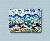 Zeitgenössische und zeitgenössische dekorative Leinwandrahmen, Wohnzimmer, abstrakte und originelle Gemälde wie die Impressionisten, handgemacht mit Öl auf Leinwand Puliafico - TRE CASETTE 40x50cm