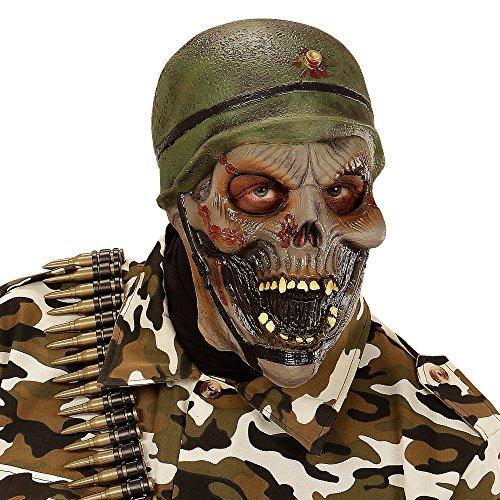 Widmann 00397 - Maske Zombiesoldat für (Kostüme Spielzeug Soldat Halloween)