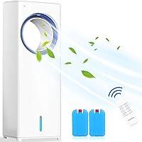 Climatiseur Portable,4 en 1 Refroidisseur d'air Ventilateur Humidificateur d'air Minuterie 8h   3 Modes   Oscillation 40…