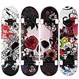 WeSkate Double Kick Trick Cool Skateboard mit Tragetasche 80x20cm 7-lagiges