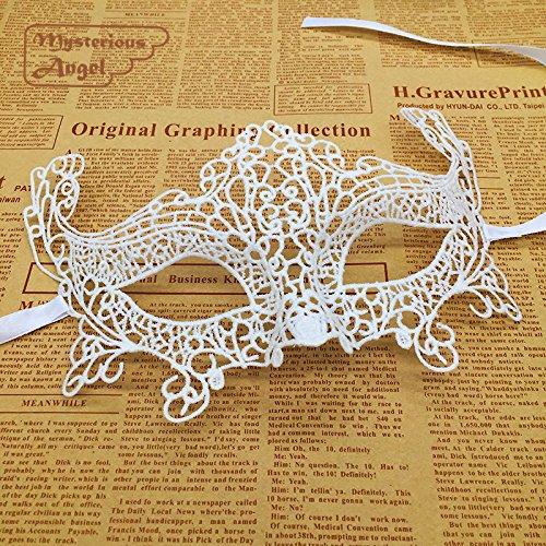 Fox White Mask (BeTera(TM) White Fox Maske Spitze-Partei Sexy Maske Maskerade Maske Kleid Venezianischer)