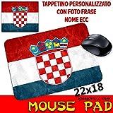 csm Informatica Mauspad mit Motiv Croazia Republika Hrvatska Croatia Fußball Mondiali STEMMA Wallpaper