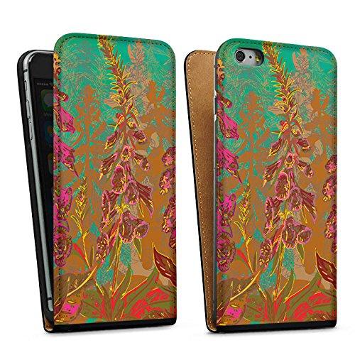 Apple iPhone 5 Housse Outdoor Étui militaire Coque Fleurs Fleurs Motif Sac Downflip noir