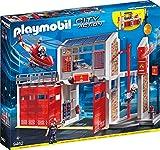 Playmobil Caserne de Pompiers avec hélicoptère, 9462