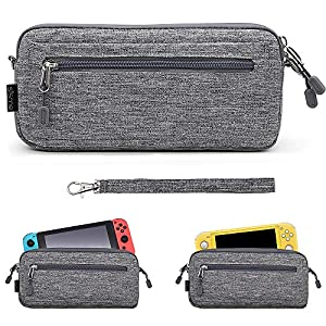 Sisma Leichtgewichts Aufbewahrung Tasche für Nintendo Switch oder Switch Lite Konsole, Grau