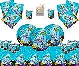 Forniture per Feste Ocean Party Compleanno per Bambini da tavola per 16 Ospiti- sotto Le Decorazioni per Feste di Pesce di Mare