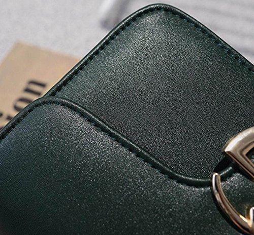 FZHLY Semplice Signore Catena Della Spalla Messenger Bag,Grey Black