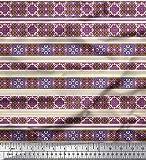 Soimoi Gelb Samt Stoff Streifen & marokkanisch Kaleidoskop