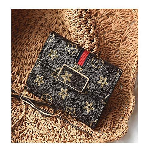Ldyia Portemonnaie Damen Portemonnaie Dünnschliff 30% Short Wallet Mini Wallet mit weiblichem Aufdruck Square Lock Wallet, Presbyopia -