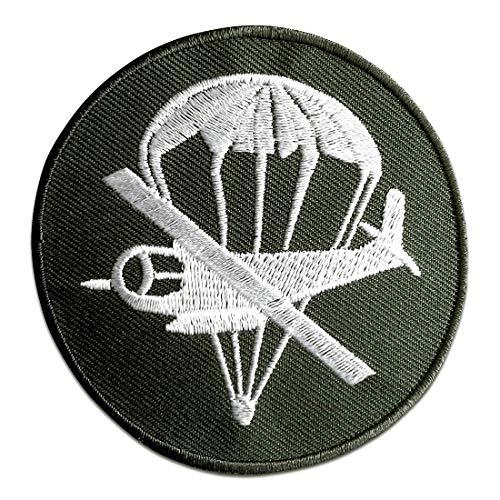 Toppe termoadesive - aerei da trasporto militare - verde - Ø7,4cm - patch toppa ricamate applicazioni ricamata da cucire adesive