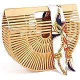 Samuel Handtasche aus Bambus, handgefertigt, mit Griff, Stroh-Strandtasche für Damen