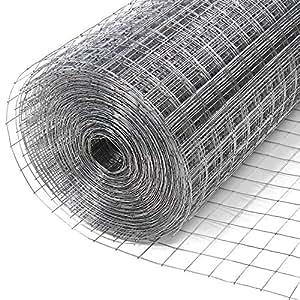 Grillage 10 x 1 m maillage 25 x 25 mm pour int rieur et jardin fil de fer galvanis - Grillage poule pas cher ...