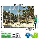 FORWALL DekoShop Fototapete Tapete Dinosaurier Kinder AD165P8 (368cm x 254cm) Photo Wallpaper Mural