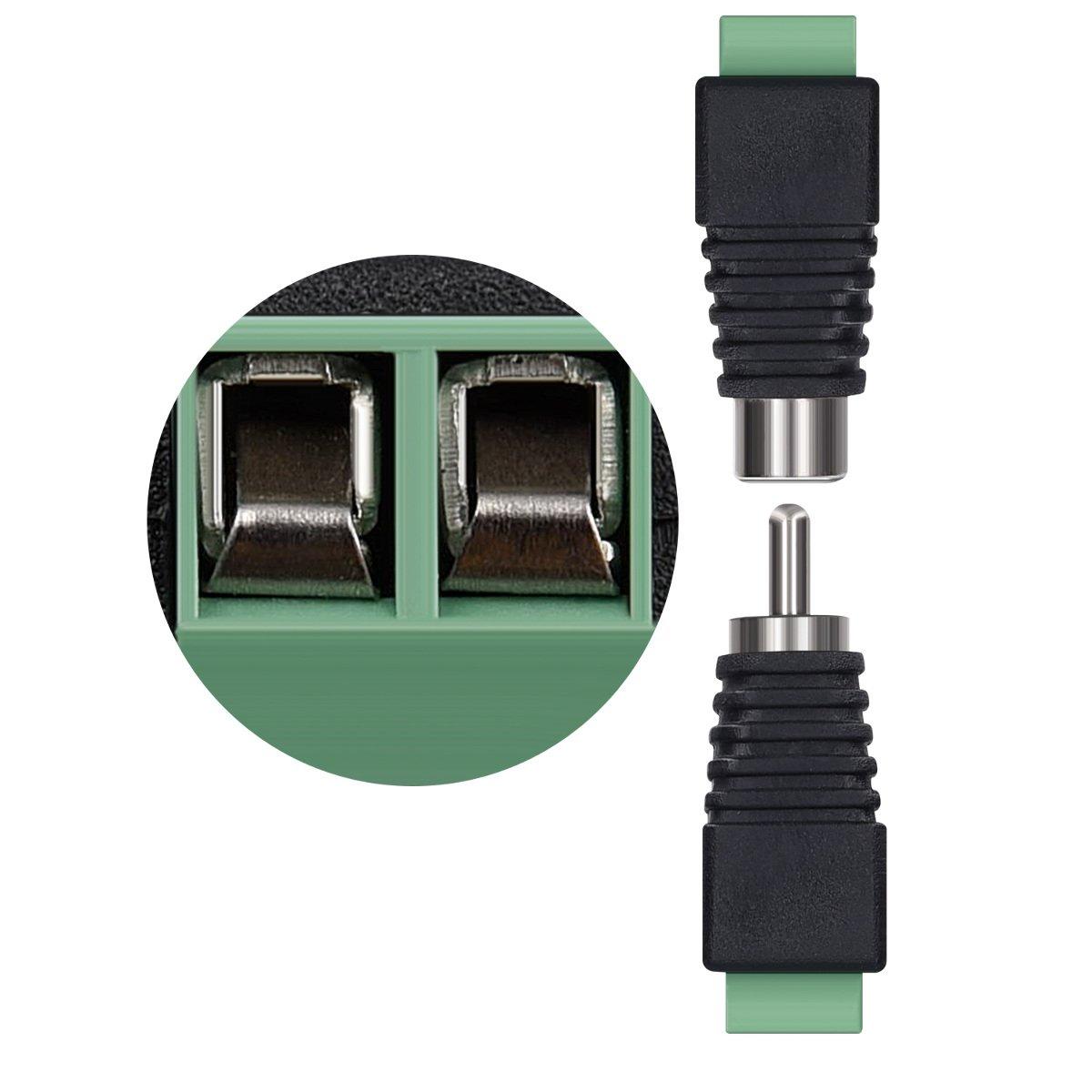 kwmobile 5x RCA Stecker Adapter Set - Verbinder Kabel auf Cinch ...