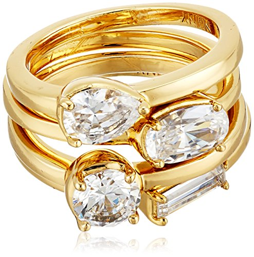 nicole-miller-multi-cut-set-of-4-gold-stackable-ring-size-7