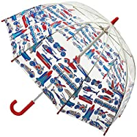 Cath Kidston Things That Go Fast Clear Dome Shape Childs Umbrella Funbrella 8F3816