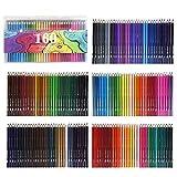160 crayons de couleurs couleurs vives crayons de couleur pré-tailles set complet pour illustrateur dessinateur ou étudiants des beaux-arts