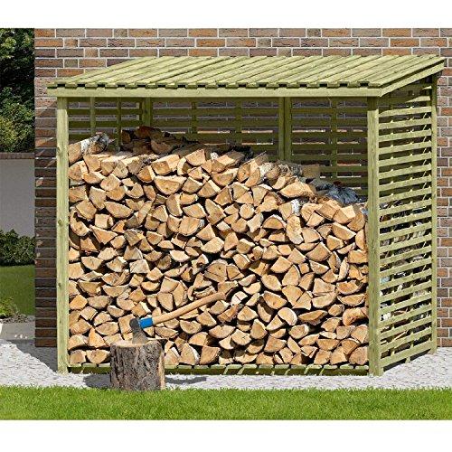 *Kaminholzregal XXL Brennholzregal mit Rückwand für 3,8 m³ Holz von Gartenpirat®*