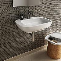 Lavabo Lavabo soutien/suspendu rectangulaire design moderne Dial en céramique blanc