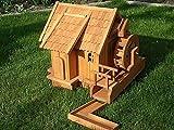 Wassermühle groß mit Dachziegeln,Wasserrad und Ablauf XXL