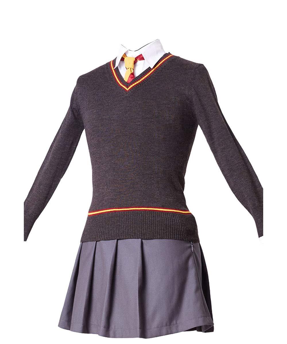 61bvPgo7zQL Tela: tela uniforme + algodon. Incluyendo: bata + camisa + falda + sueter + corbata. Aplicable para fiestas, festivales, regalos de cumpleanos, halloween, cosplay de carnaval, etc. disfraz de colegial