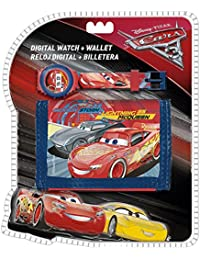 Set reloj digital billetera Cars Disney