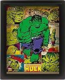 Marvel Retro Cadre 3D Lenticulaire 28,7 x 23,5 cm - Hulk