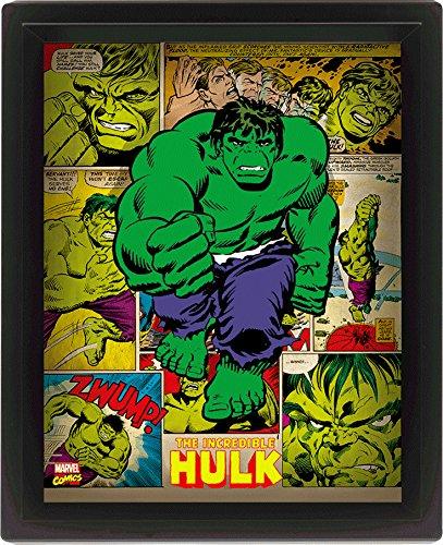 Pyramid International EPPL71167 Hulk Gerahmtes 3D Poster, Pet und Tinte Rahmen aus PS, Mehrfarbig, 29 x 25 x 5 cm