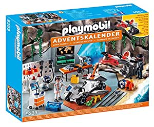 Playmobil 9263 - Calendario Avvento Top Agents, Nero/Bianco