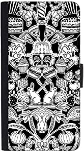 Snoogg Black And White Feastdesigner Protective Flip Case Cover For Htc M7