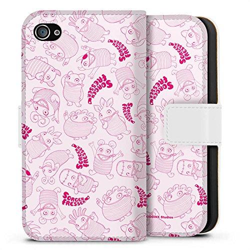 Apple iPhone X Silikon Hülle Case Schutzhülle Sorgenfresser Spielzeug Fanartikel Merchandise Sideflip Tasche weiß