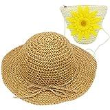 YOPINDO Cappello di paglia Kids Cappello da bambina Set Cappello di paglia  Cappello da spiaggia estivo c8d816cd108b