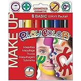 PlayColor 010015G Básica Make Up bolsillo cara pintura stick (Pack de 6)
