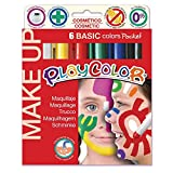 Playcolor- Caja de 6 témperas sólidas,, (1001)