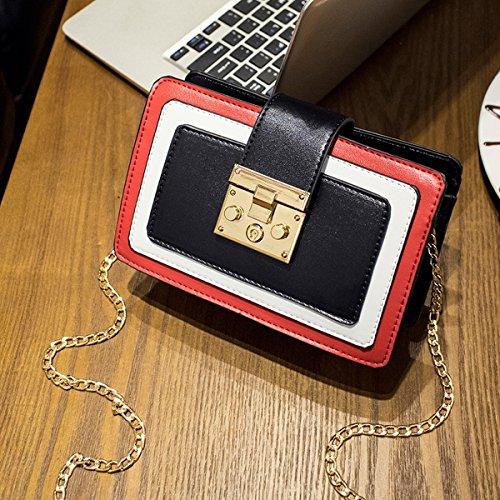 Weibliche mode-paket Schulter Schräge Kreuz einfache wilde Hit kleine quadratische tasche Schwarz
