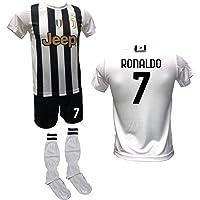 DND Di D'Andolfo Ciro Completo Calcio Maglia bianconera Home Cristiano Ronaldo CR7, Pantaloncino con Numero 7 Stampato e…