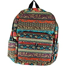 Surf Print Canvas Rucksack. Day pack, day bag, knapsack. Ethnic, Hippy, Bohemian