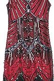 BABEYOND Damen Flapper Kleider voller Pailletten Retro 1920er Jahre Stil V-Ausschnitt Great Gatsby Motto Party Damen Kostüm Kleid (Größe S / UK8-10 / EU36-38, Rot) für BABEYOND Damen Flapper Kleider voller Pailletten Retro 1920er Jahre Stil V-Ausschnitt Great Gatsby Motto Party Damen Kostüm Kleid (Größe S / UK8-10 / EU36-38, Rot)