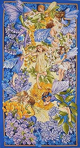 Dawn Till Dusk Flower Fairy Bedruckte Baumwolle Stoff Quilting Panel 60cm x 110cm