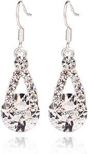 Hot Vendita, Fittingran Crystal Ciondolo Orecchini Orecchini di Cristallo Brillante Drop Orecchini Regalo di Nozze