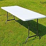 Tisch klappbar Kunststoff weiß 76×182 cm - 2