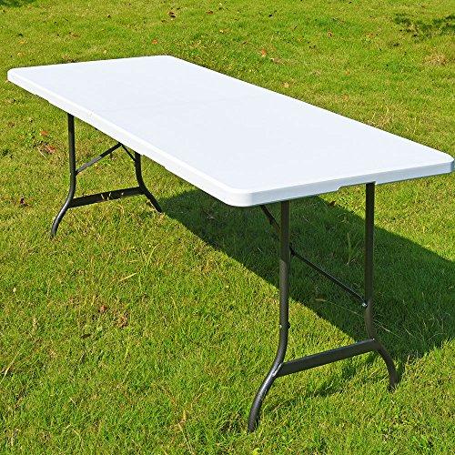 Deuba Campingtisch Gartentisch Klapptisch Falttisch Faltbarer Tisch Campingmöbel Markttisch Flohmarkttisch Koffertisch 183x72x76cm - Kunststoff Breite Klapptisch